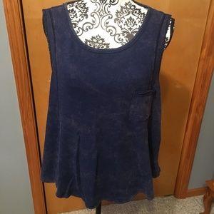 XS We the Free Heather Blue Sleeveless Tunic